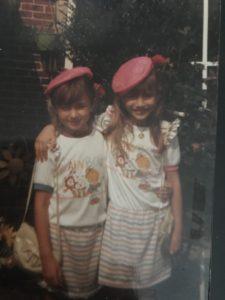 Left to right: Cousin Louise and Miriam Enriquez